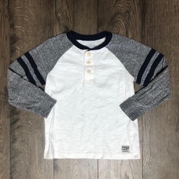 OSHKOSH Toddler Boys/' THERMAL LOGO HENLEY NWT long sleeves Oshkosh Logo teal